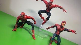Unboxing Toy Biz Spider-man movie (used) figures