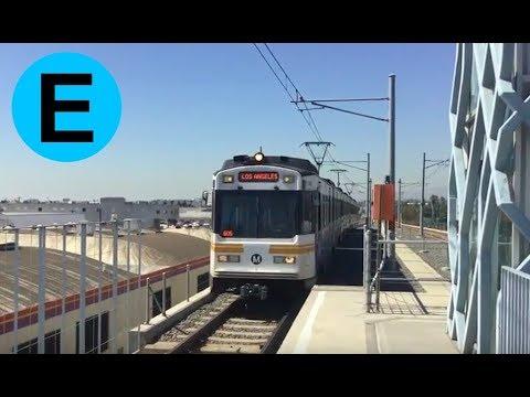 LA Metro Expo Line - Nippon Sharyo Action @ La Cienega/Jefferson