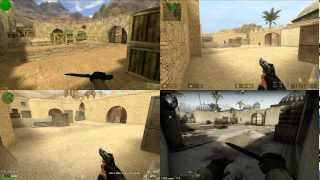 CS 1.6 vs CSS vs CSP vs CSGO - The differences: de_dust2