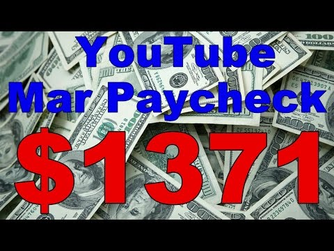 $1371 YouTube March Paycheck 2017 - YouTube Ad Crisis