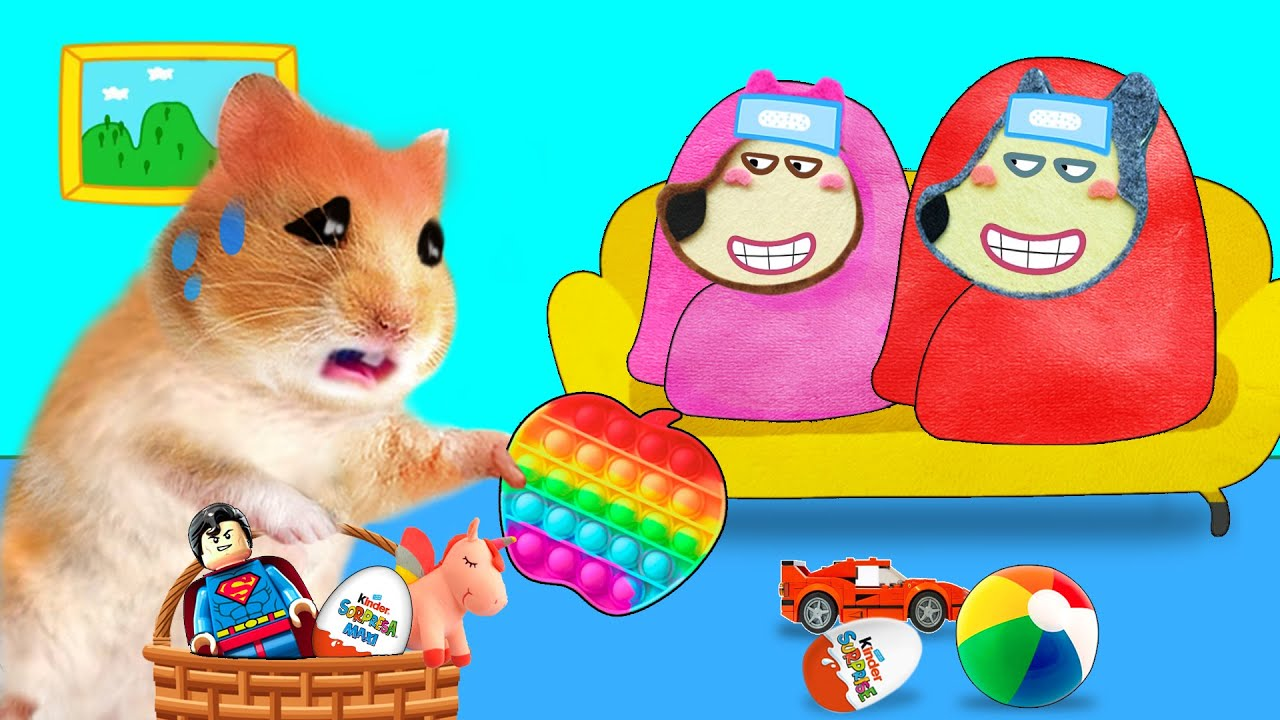 No No, Wolfoo! Don't Pretend to Be Sick - Pop It Cartoon Hamster by Life Of Pets Hamham