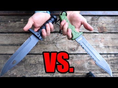 $8 VS $18 Survival Knives On Amazon! (Test/Review)