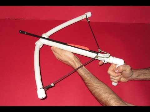 How to make a Crossbow - Homemade PVC Crossbow