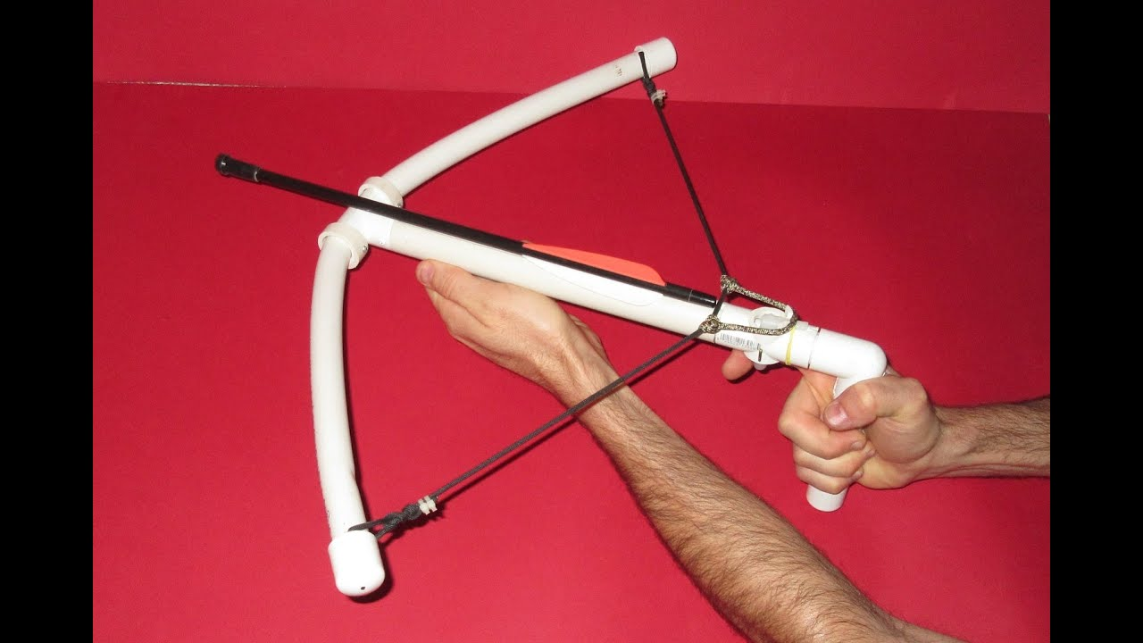 How to make a crossbow homemade pvc crossbow youtube solutioingenieria Images