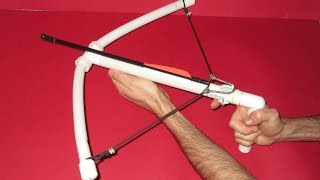 How to make a Crossbow - Homemade PVC Crossbow Here is a crossbow made with PVC. It is easy to make with common tools
