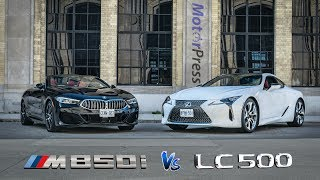 2019 BMW M850i Vs 2019 Lexus LC500 | Head to Head Cabrio Vs Coupe
