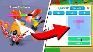 THIS HAPPENS WHEN YOU BEAT THE ALIEN CHICKEN!! (Roblox Egg Farm Simulator)