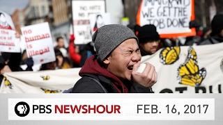 PBS NewsHour full episode February 16, 2017