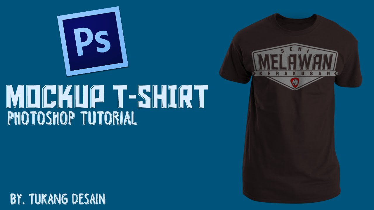 Mockup Kaos Dengan Photoshop Mockup T Shirt Simple Photoshop