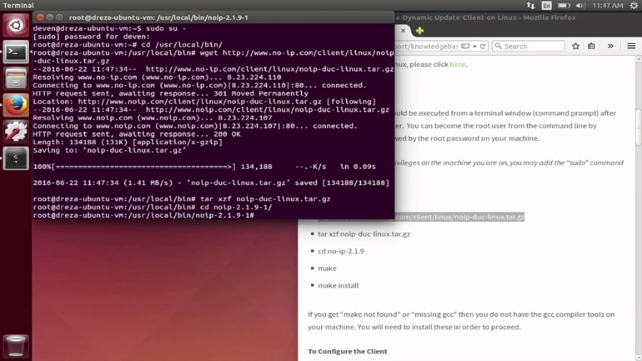 How to Download and Configure the No-IP Dynamic Update Client on Linux