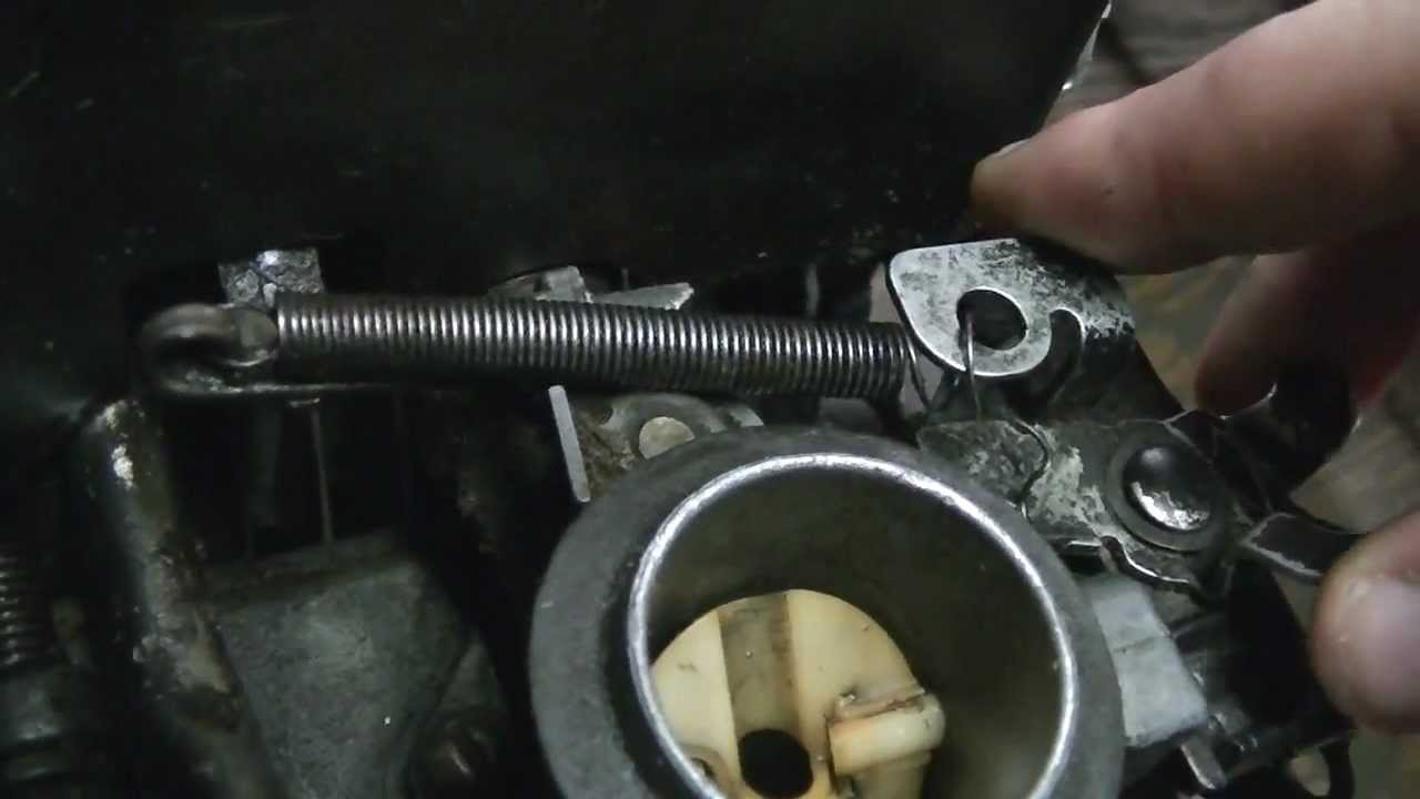 medium resolution of how a briggs and stratton push mower engine governor throttle linkage is set up and how it works youtube