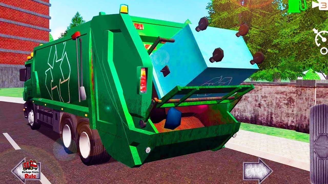 Garbage Truck Videos For Children L Trash Truck Dumpster