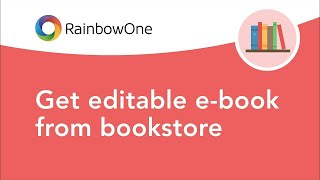 Get editable e-book from bookstore