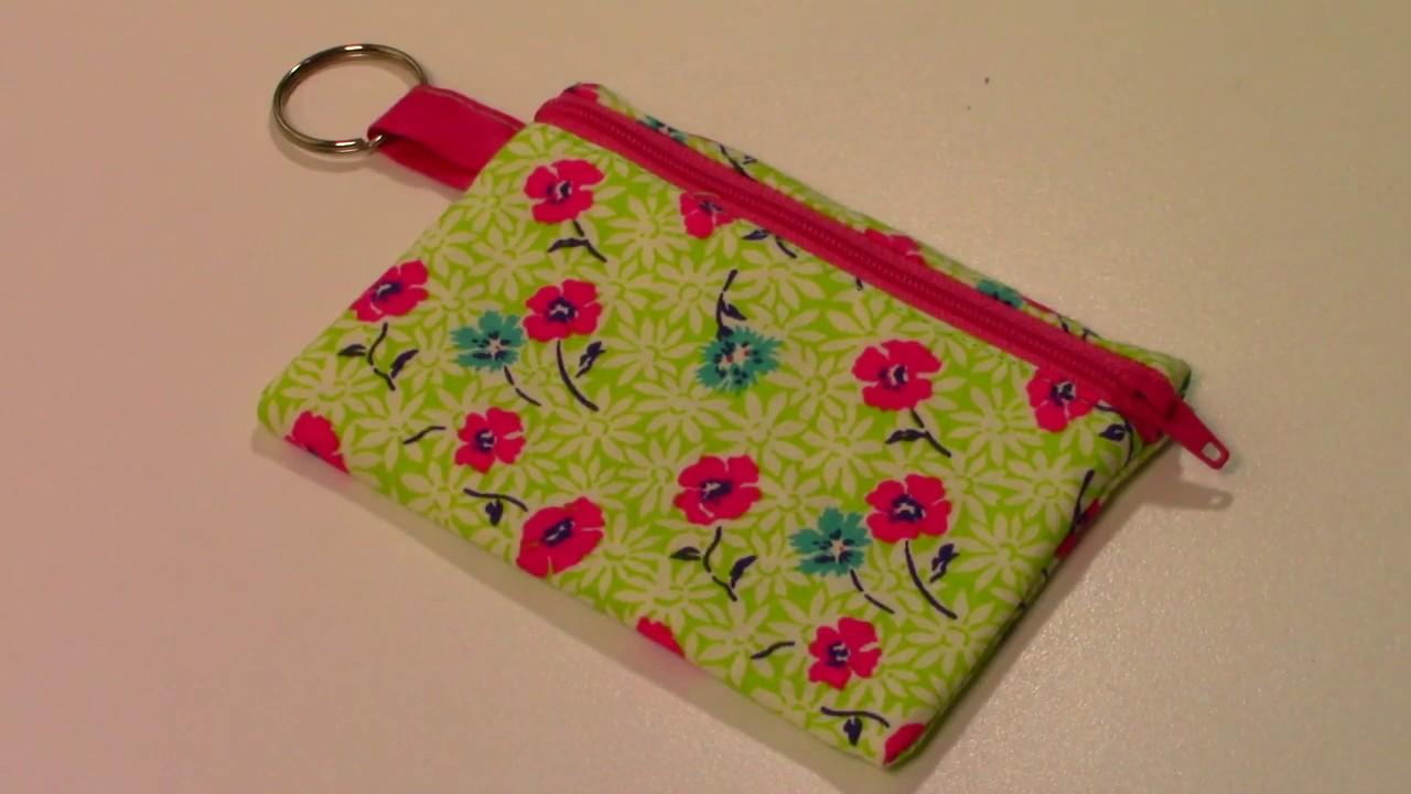 Zipper keychain coin purse Pie coin purse pie lover change purse