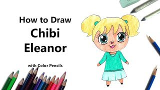 How to Draw Chibi Eleanor from Alvin and the Chipmunks Step by Step - very easy