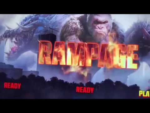 Rampage New Movie Video Game At Dave Busters Arcade
