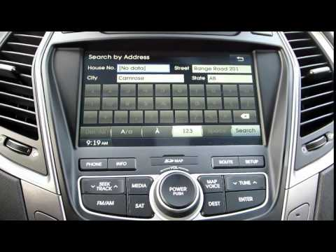 how to use the navigation in the 39 15 hyundai santa fe. Black Bedroom Furniture Sets. Home Design Ideas