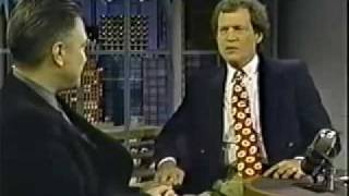 David Lynch @ David Letterman (Twin Peaks)