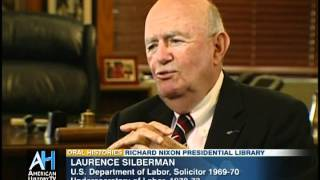 Oral Histories Preview: Richard Nixon Labor Undersecretary Laurence Silberman