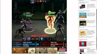 Marvel Avengers Alliance team Wolverine - Hawkeye 4 Batlles