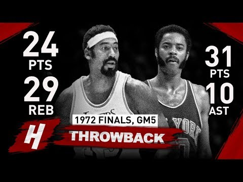 Wilt Chamberlain vs Walt Frazier LEGENDS Game 5 Duel Highlights 1972 NBA Finals - MUST WATCH