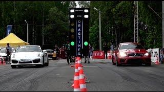 Porsche  911 Turbo Vs Mercedes C63 Amg