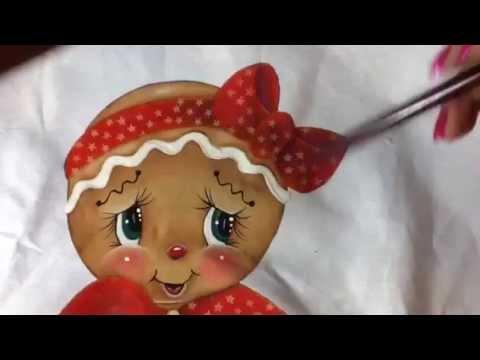 Pintura en tela jengibre 3 con cony youtube - Pintura en tela motivos navidenos ...
