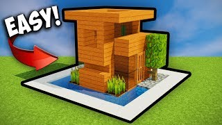 TINY MINECRAFT STARTER HOUSE!! Minecraft Tutorial 2017