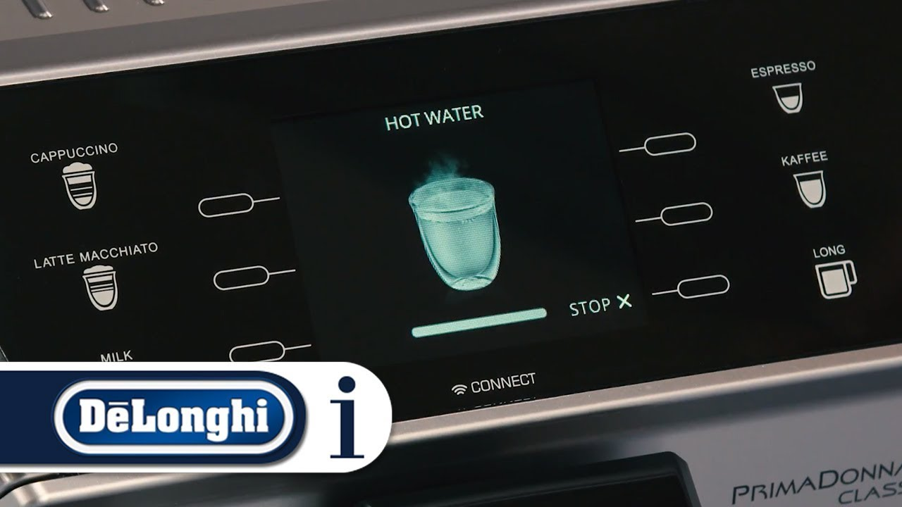 How To Deliver Hot Water From Your Delonghi Primadonna Class Ecam 55075ms Or Ecam 55055sb