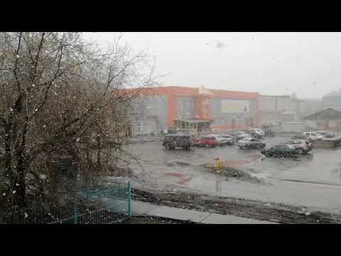 Снег выпал накануне 1 Мая