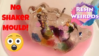 How to make a shaker with No shaker mould! | Pusheen shaker uv resin