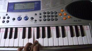 ANKHO MAI TERI AJAB SI AJAB SI SONG ON PIANO