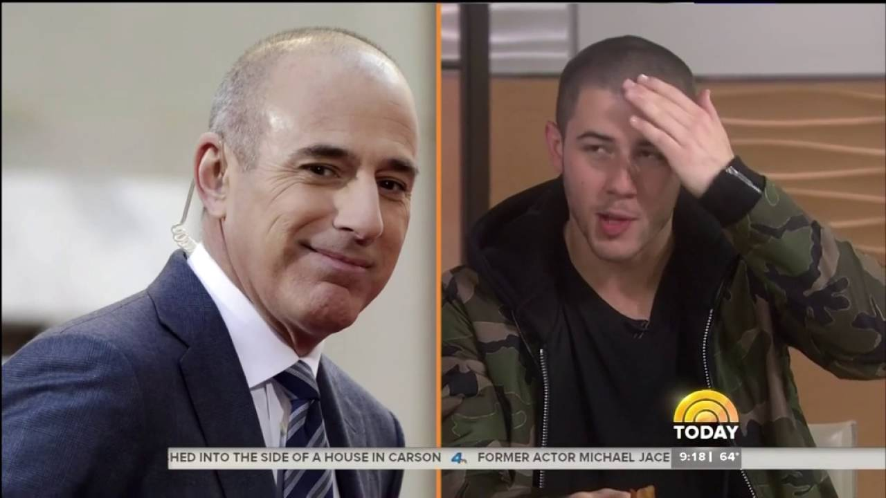 I Do This To My Hair Nick Jonas Being Compared To Matt Lauer Youtube