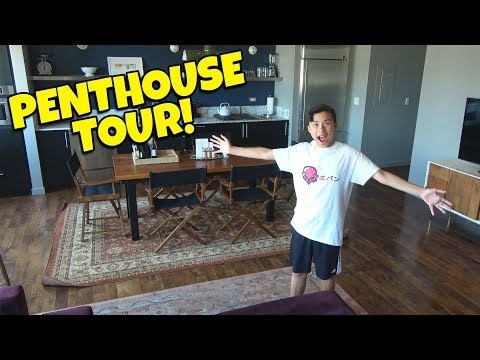 LUXURY PENTHOUSE TOUR!!! Father Son Road Trip!