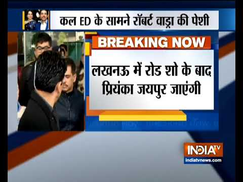 Priyanka Gandhi Vadra to leave for Jaipur after her roadshow in Lucknow