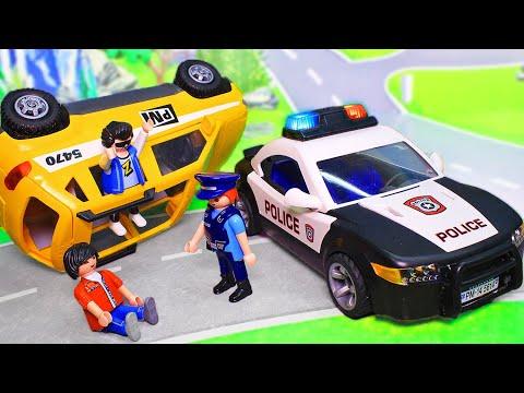 Машинки для мальчиков - мультики с игрушками Плеймобил. Неудачный побег! Видео про машинки 2019