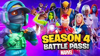 SEASON 4 MARVEL BATTLEPASS! (100% Unlocked)