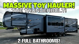 ENORMOUS Toy Hauler RV! XLR Thunderbolt 413! Check this beast out!