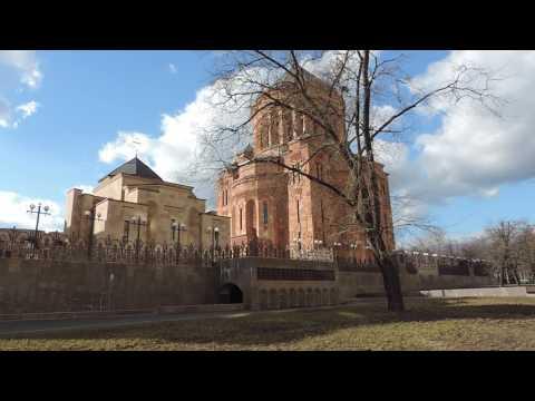 Москва Армянский храм со стороны Олимпийского проспекта - 11 марта 2014