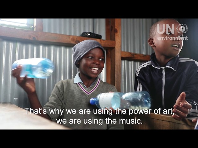 #YoungChamp Shady Turns Waste to Music in Kibera