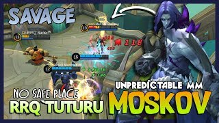 "Savage Time Moskov by RRQ`Tuturu ""No Safe Place Gusion, I Come for My Savage!"" ~ Mobile Legends"
