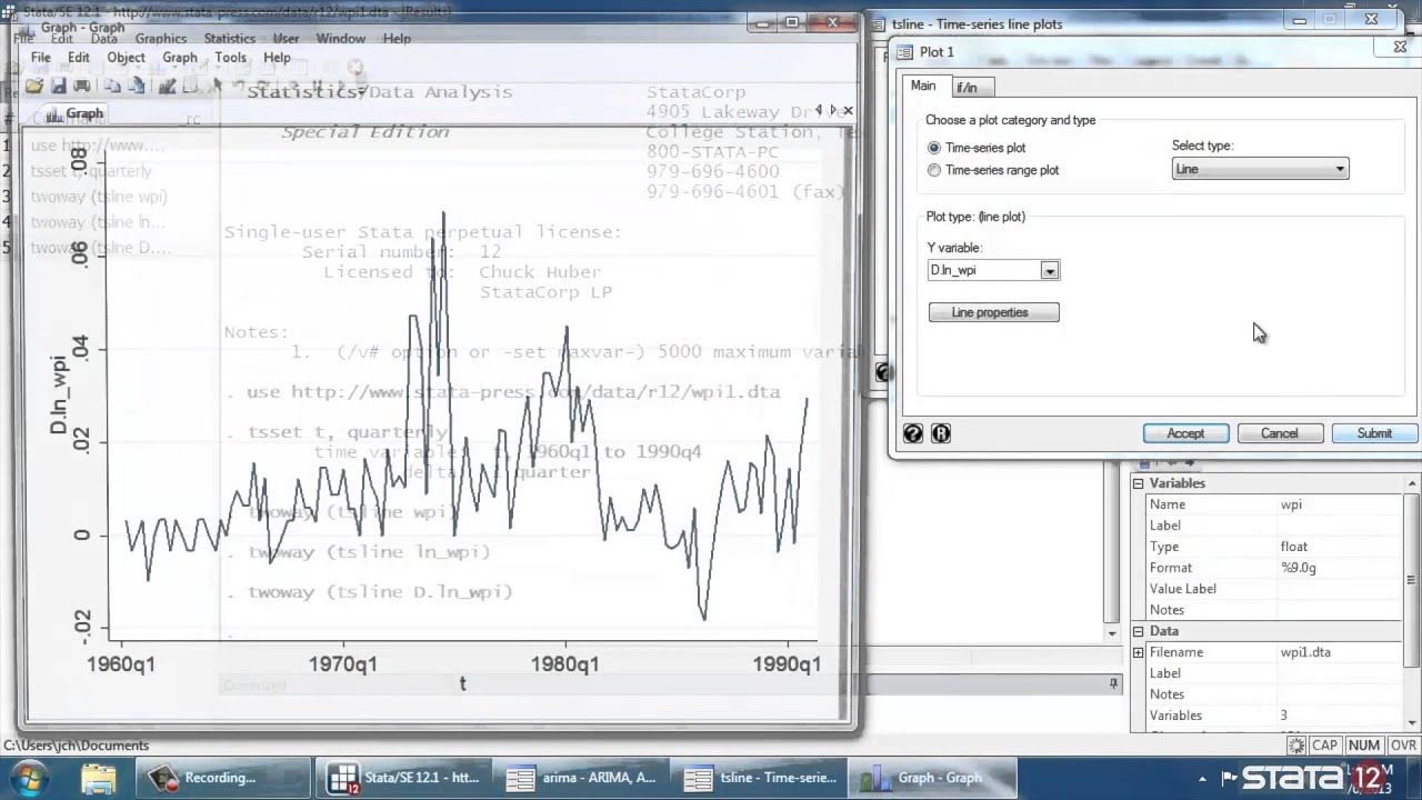 Time series in Stata®, part 5: Introduction to ARMA/ARIMA models