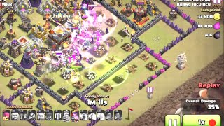 CLASH OF CLANS | Dramatic skills TH 10 vs TH 11 get 2 STAR with skeleton Witchs and one Archer