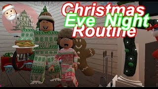 Roblox Bloxburg(MD) Maman et fille CHRISTMAS EVE NIGHT ROUTINE