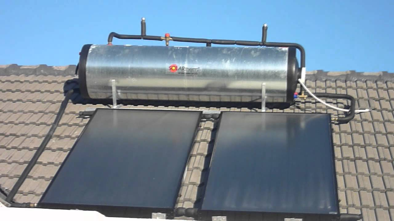 Solar Water Heating - Part 2: Evacuated tubes and flat plate collector solar  geysers - YouTube