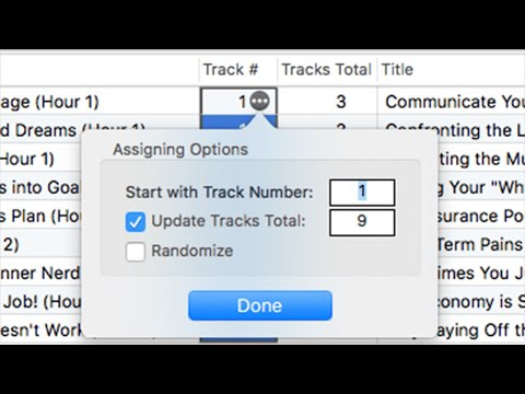 Assign Track Numbers automatically on Mac with Tag Editor by Amvidia
