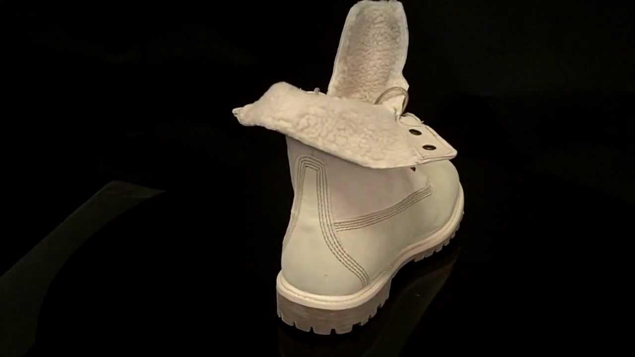 size 40 5e895 99e43 Timberland Authentics Teddy Fleece Winter White Boots 8331R