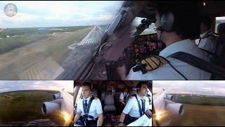Fantastic Boeing 747 Pilots! Captain Dani and F/O Adrian: PERFECT Punta Cana Landing!  [AirClips]