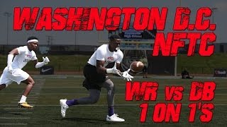 Washington DC WR vs DB 1 on 1