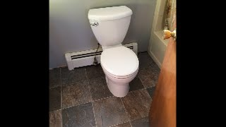 How to Install a Toilet QUICK EASY 15 minutes Step by Step tutorial Old Bathroom This House
